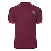 Buy Churchill Academy Unisex Tudor House Polo Shirt, Maroon/Red Online at johnlewis.com