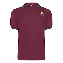 Buy Churchill Academy Unisex Windsor House Polo Shirt, Maroon/Blue Online at johnlewis.com