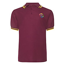 Buy Churchill Academy Unisex Hanover House Polo Shirt, Maroon/Gold Online at johnlewis.com