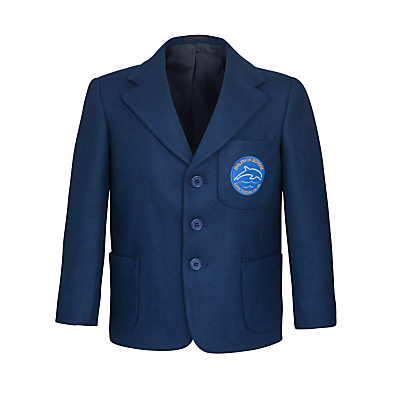 Product photo of Dolphin school unisex blazer royal blue