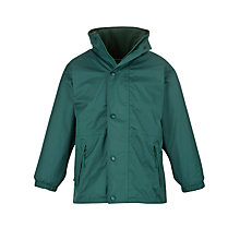 Buy School Unisex Waterproof Coat, Bottle Green Online at johnlewis.com
