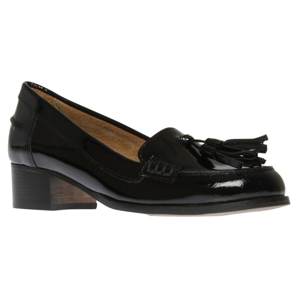 86bf3e0785f Carvela Lexie Tassel Patent Leather Block Heel Loafers