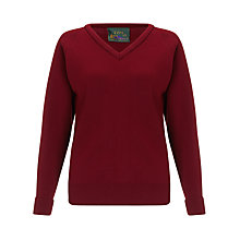 Buy The Red Maids' School Girls' Jumper, Maroon Online at johnlewis.com