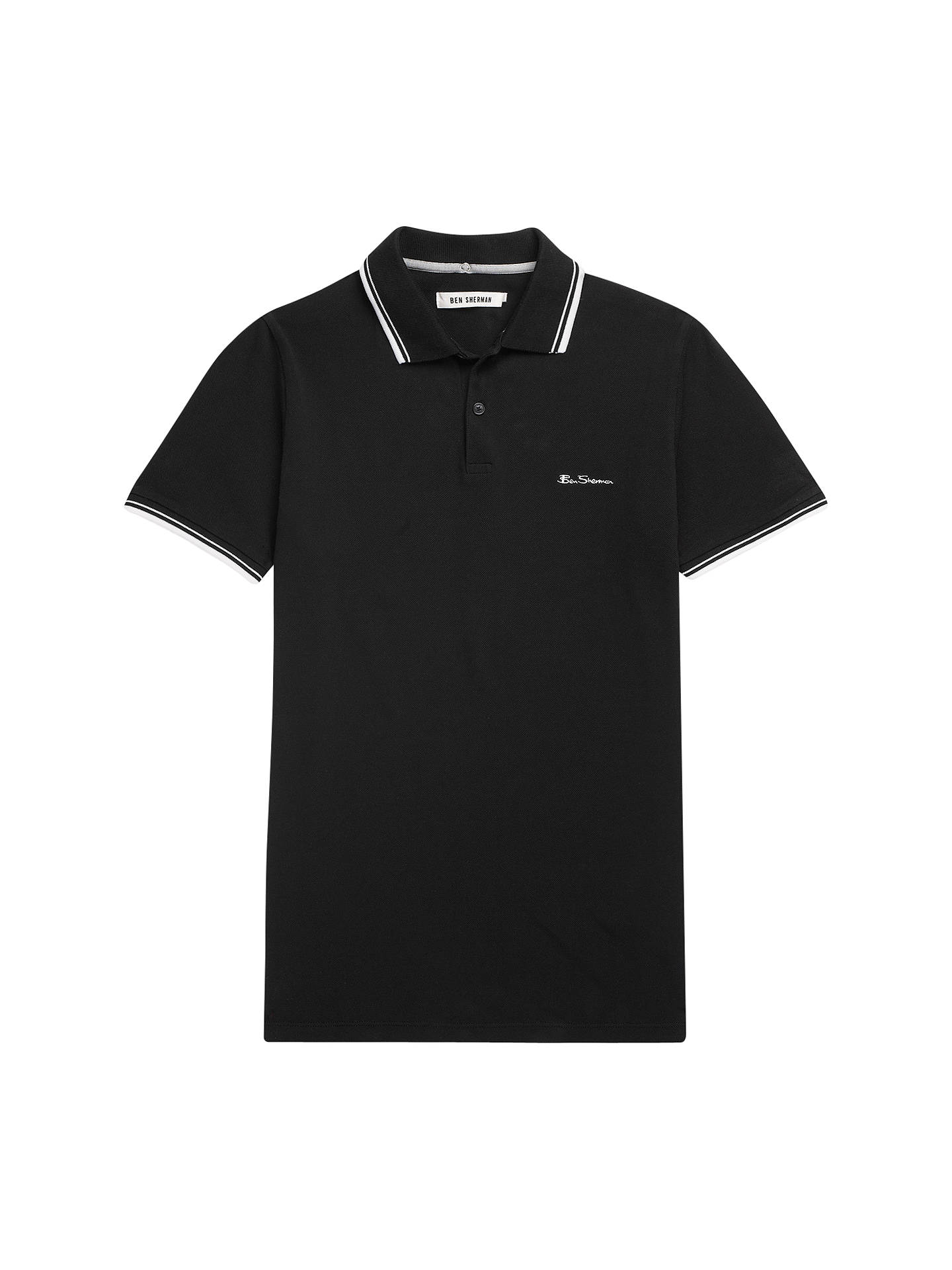 54743dfc Buy Ben Sherman Romford Polo Shirt, Jet Black, S Online at johnlewis.com ...