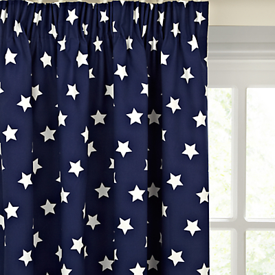 little home at John Lewis Glow in the Dark Star Blackout Lined Pencil Pleat Chil