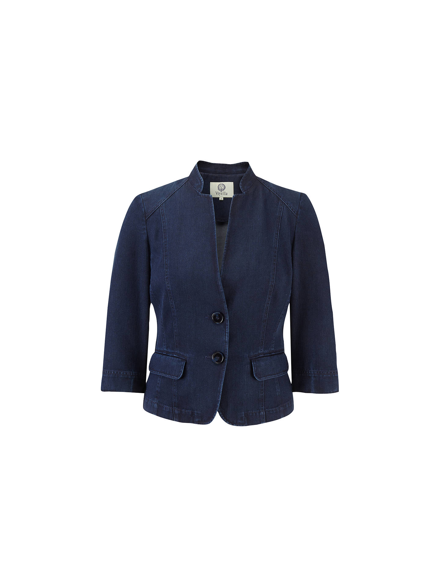 Viyella Denim Tencel Jacket Indigo At John Lewis Partners