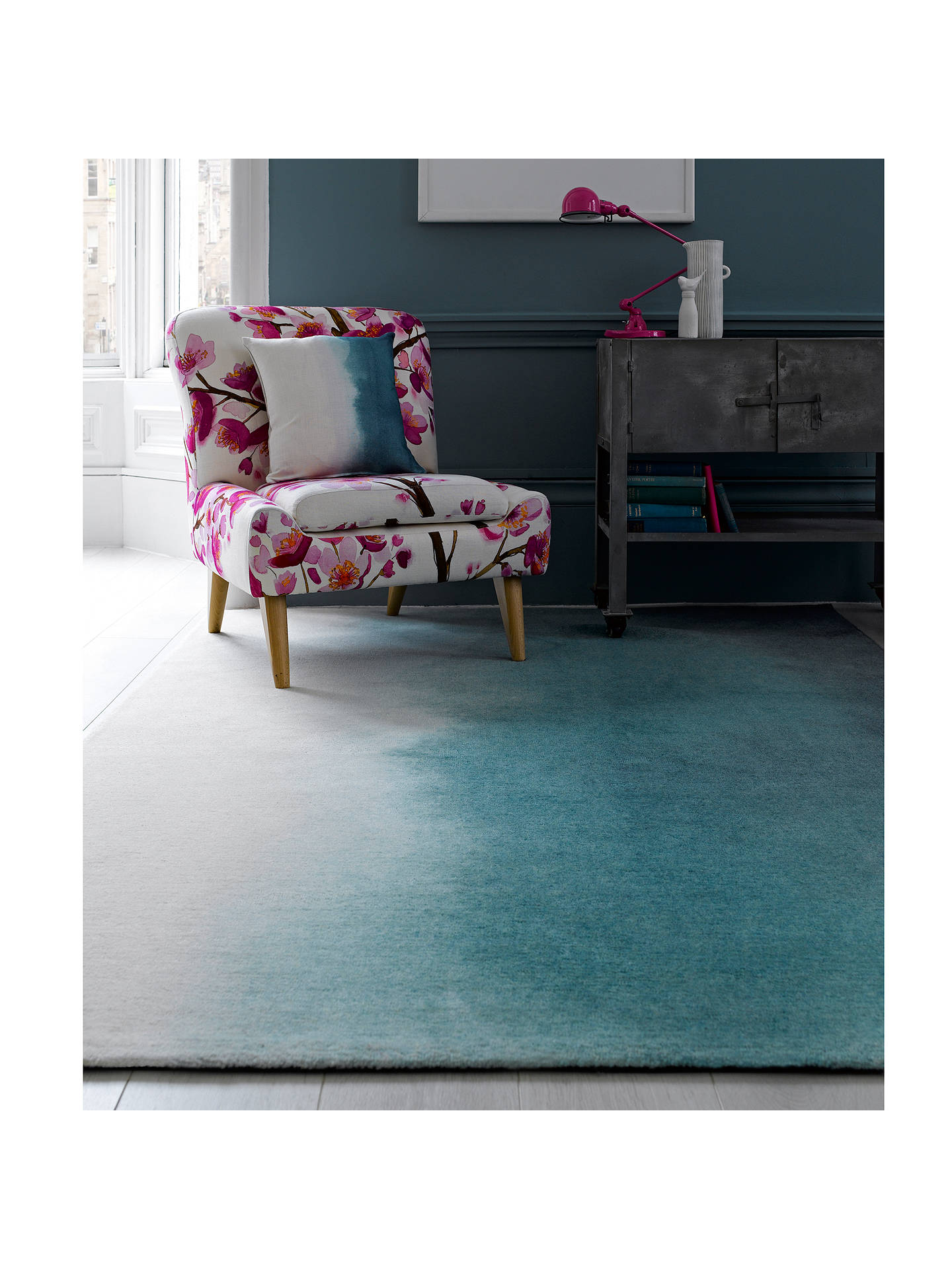 Buy Bluebellgray Paintbox Rug, Teal, L280xW200cm Online at johnlewis.com