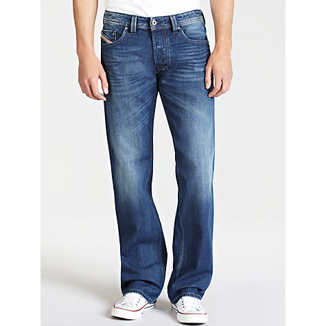 Buy Diesel Larkee Straight Jeans, Blue 8XR Online at johnlewis.com