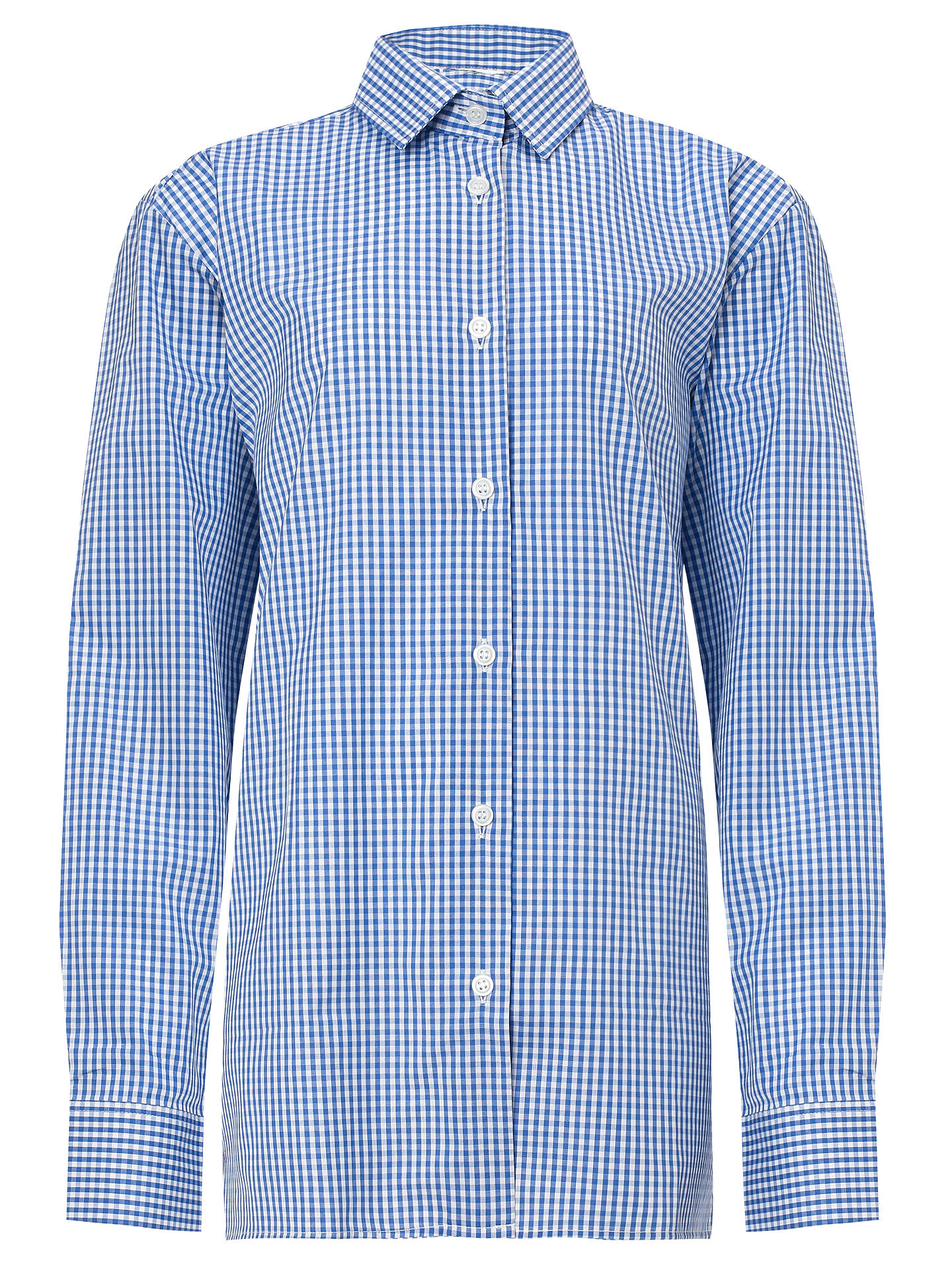 "BuyBoys' Long Sleeve Shirt, Pack of 2, Royal Blue/White, Collar 11.5"" Online at johnlewis.com"