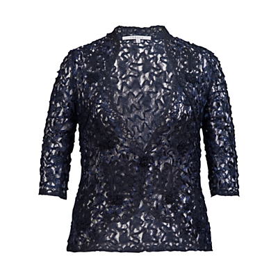 Chesca Cornelli Lace Jacket, Navy