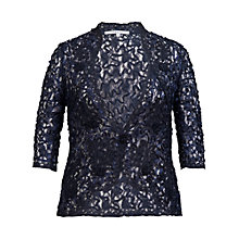 Buy Chesca Cornelli Lace Jacket, Navy Online at johnlewis.com