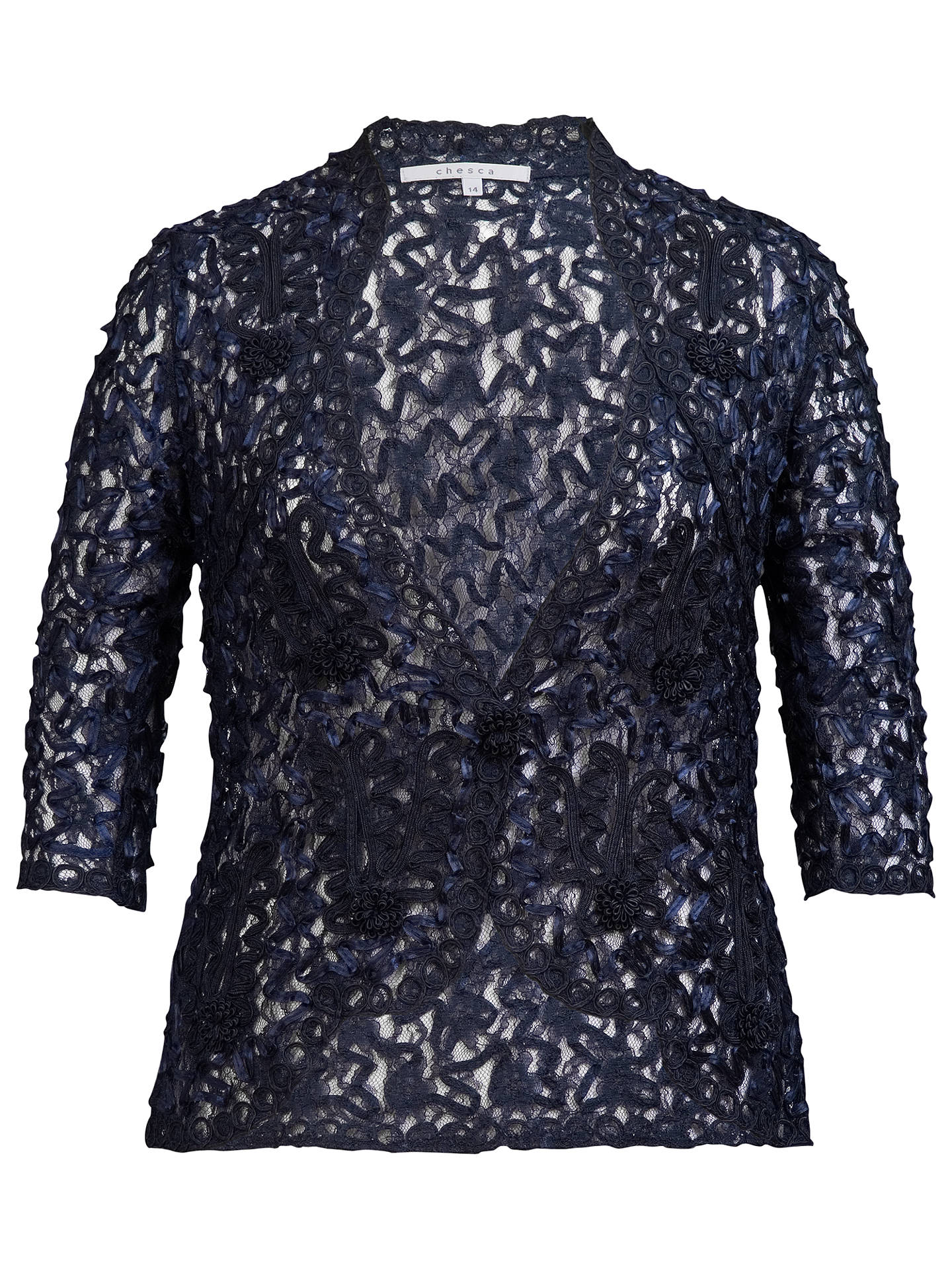 316fb45b Buy Chesca Cornelli Lace Jacket, Navy, 12 Online at johnlewis.com ...