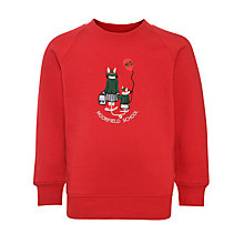 Buy Moorfield School Unisex Sweatshirt, Red Online at johnlewis.com