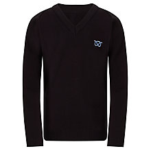 Buy Denbigh School Unisex Jumper, Black Online at johnlewis.com