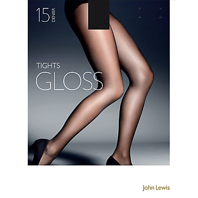 John Lewis 15 Denier Gloss Tights, Pack of 1