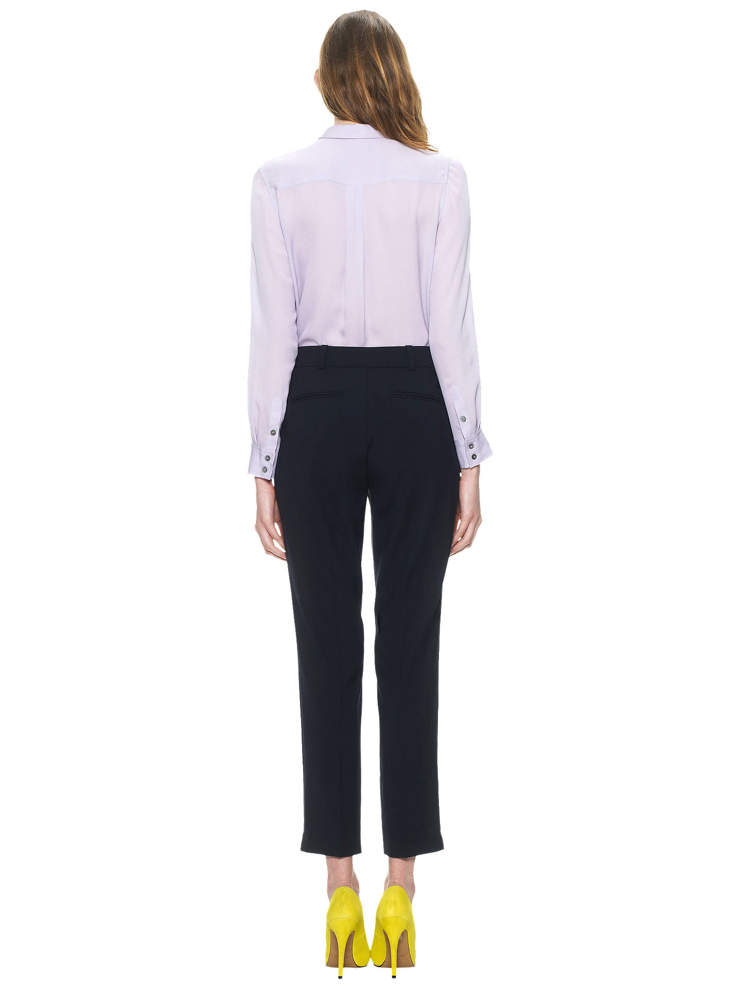 Buy Whistles Lula Tailored Trousers, Navy, 12 Online at johnlewis.com