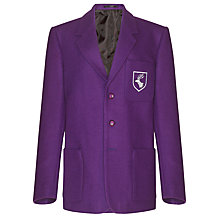 Buy Daiglen School Unisex Embroidered Blazer, Purple Online at johnlewis.com