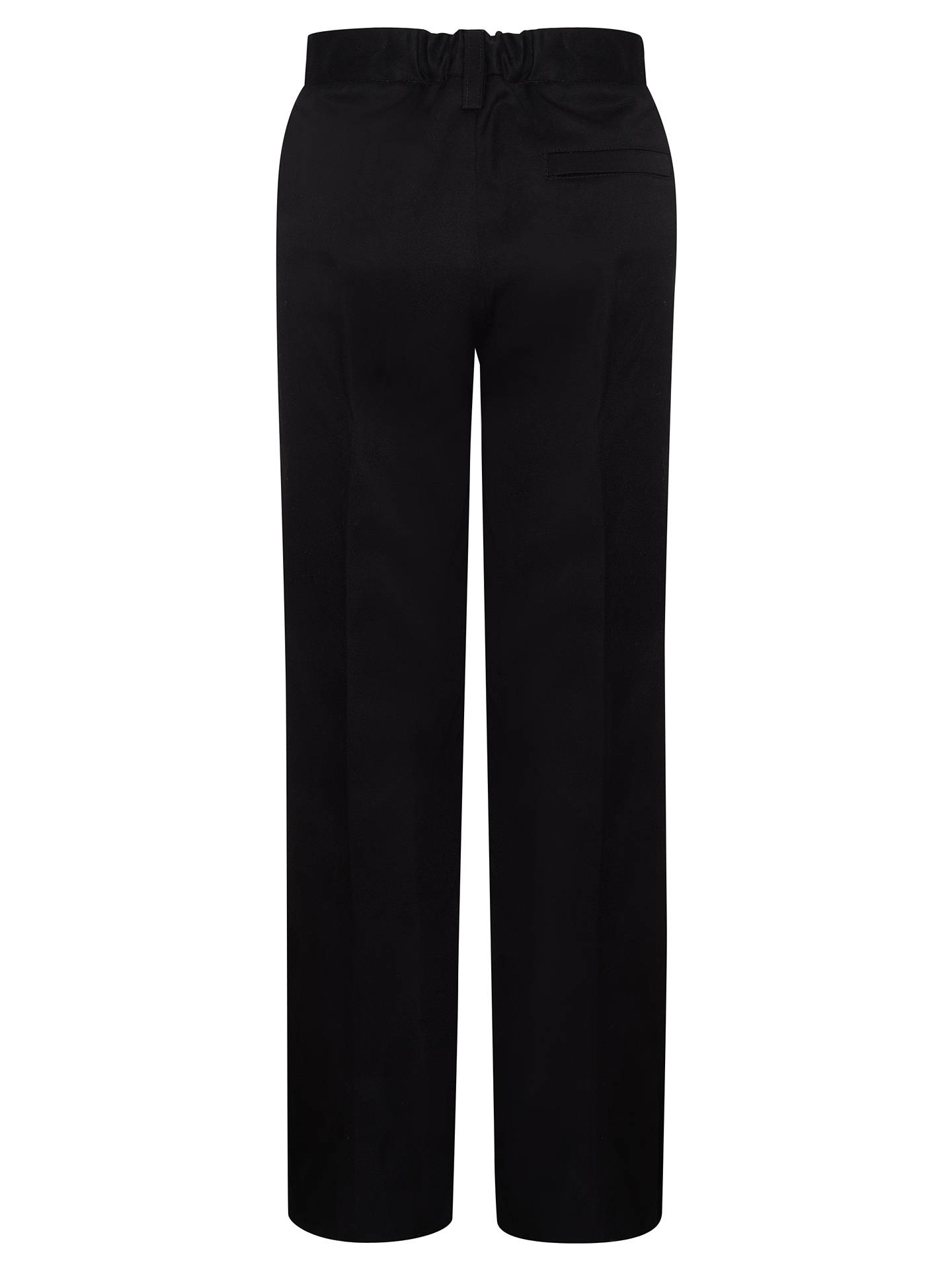 Buy John Lewis & Partners Boys' Pure Cotton Adjustable Waist Straight Leg School Trousers, Black, 3 years Online at johnlewis.com