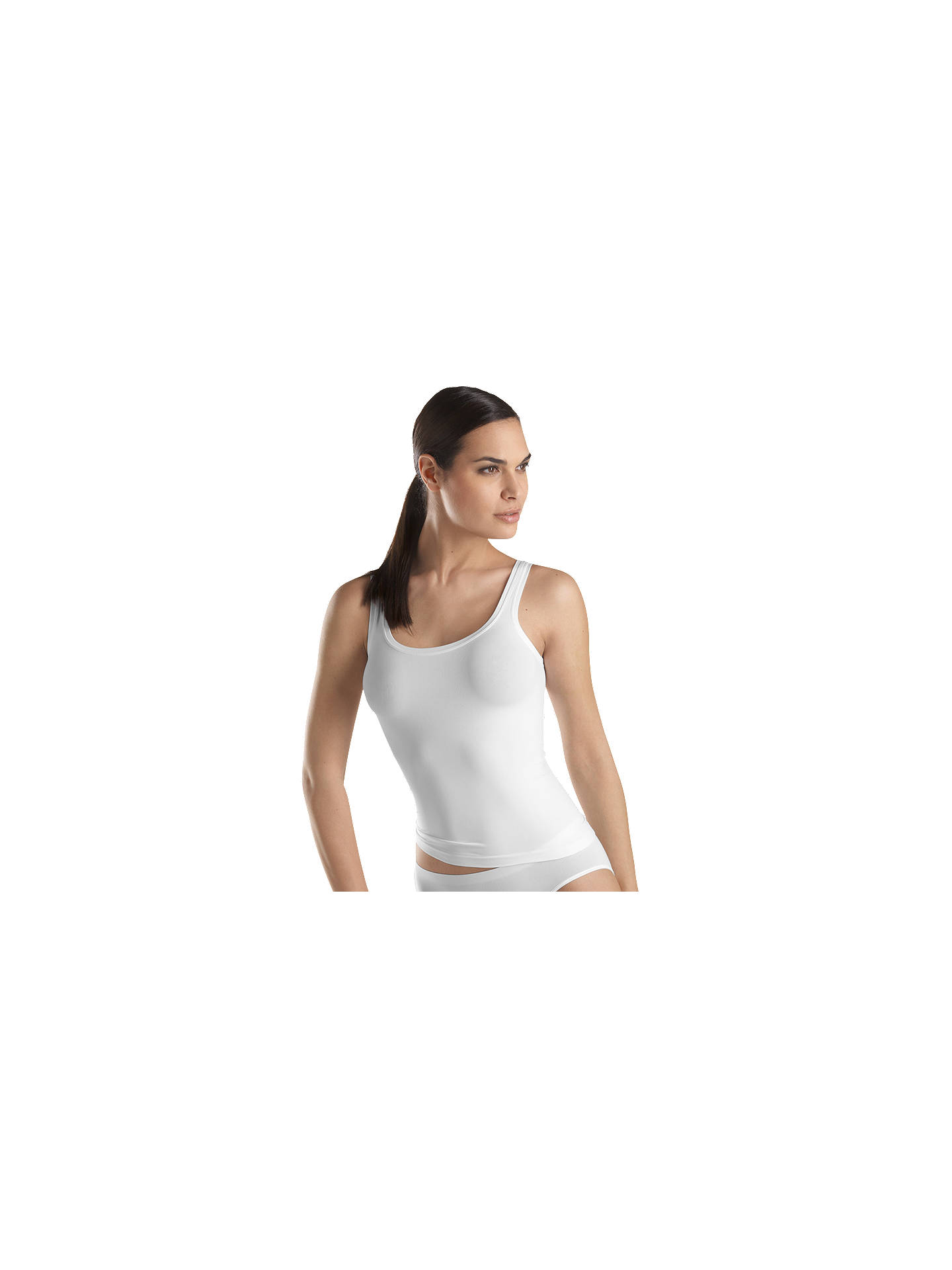 3ae6607596 Buy Hanro Touch Feeling Microfibre Tank Top, White, XS Online at  johnlewis.com ...