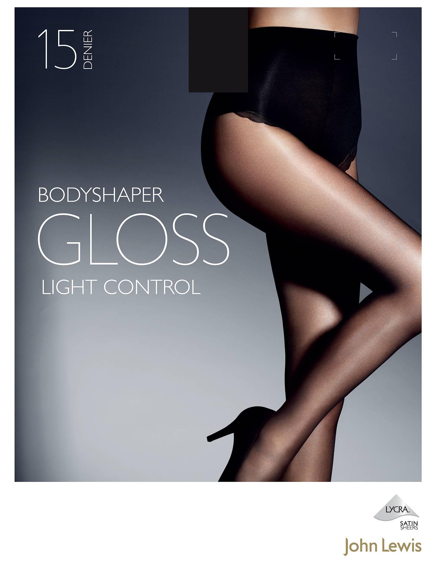 d936057072731 Buy John Lewis 15 Denier Gloss Body Shaper Tights, Black, S Online at  johnlewis