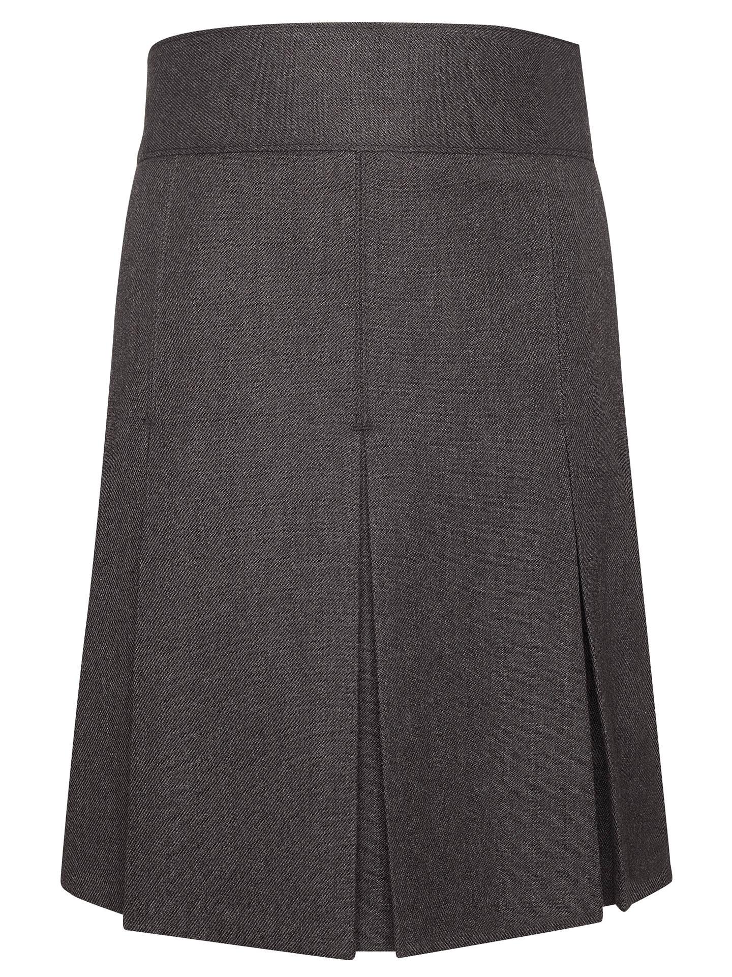41ac78a8c6 Buy John Lewis & Partners Girls' Adjustable Waist Stitch Down Pleated  School Skirt, Grey ...