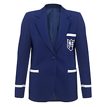 Buy Milverton House School Girls' Blazer, Royal Blue Online at johnlewis.com