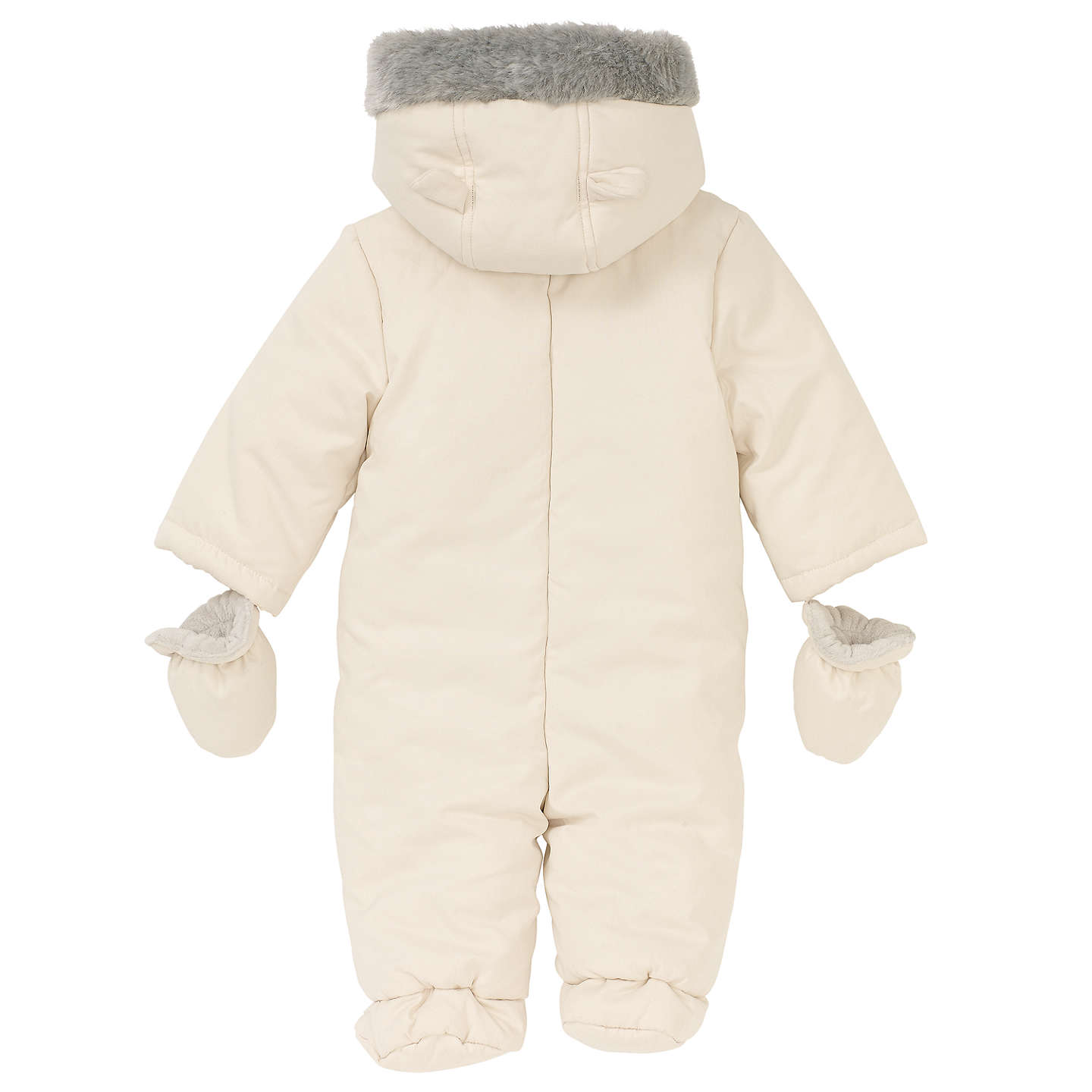 BuyJohn Lewis Baby Wadded Snowsuit, Off White, Newborn Online at johnlewis.com