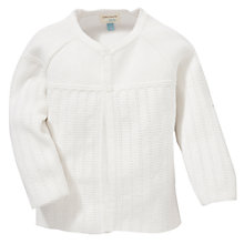 Buy John Lewis Baby's Pointelle Cardigan, Cream Online at johnlewis.com