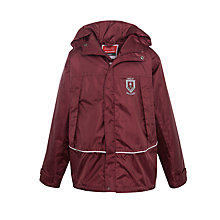 Buy Great Ballard School Unisex Waterproof Jacket, Maroon Online at johnlewis.com