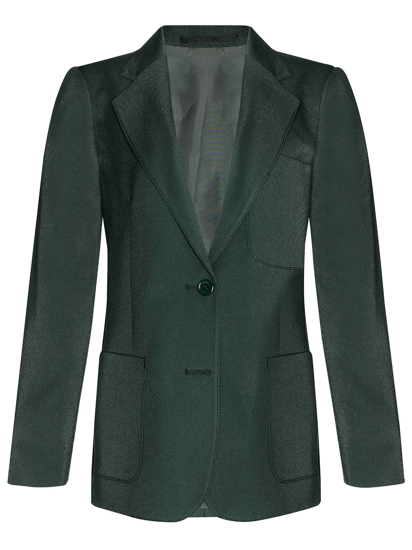 "BuyJohn Lewis & Partners Girls' School Eco Blazer, Bottle Green, Chest 22"" / 3-4 years Online at johnlewis.com"