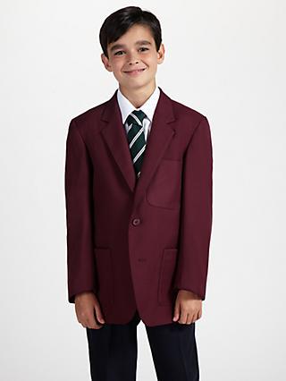 3a7a53f99 John Lewis & Partners Boys' School Eco Blazer, Maroon