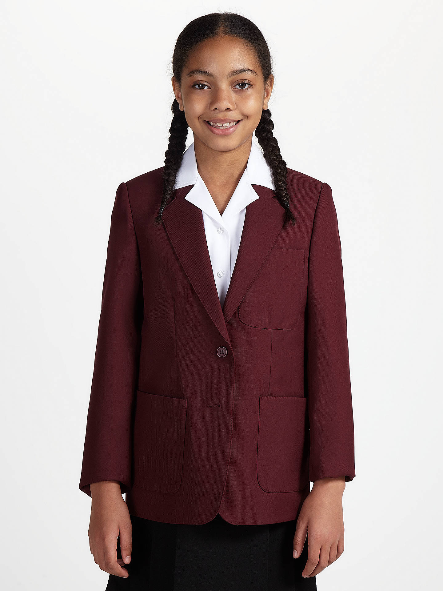 34889d93e9a Buy John Lewis & Partners Girls' School Eco Blazer, Maroon, Chest 36