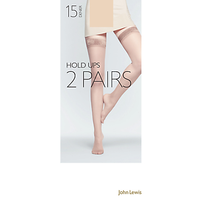John Lewis 15 Denier Hold-Ups, Pack Of 2