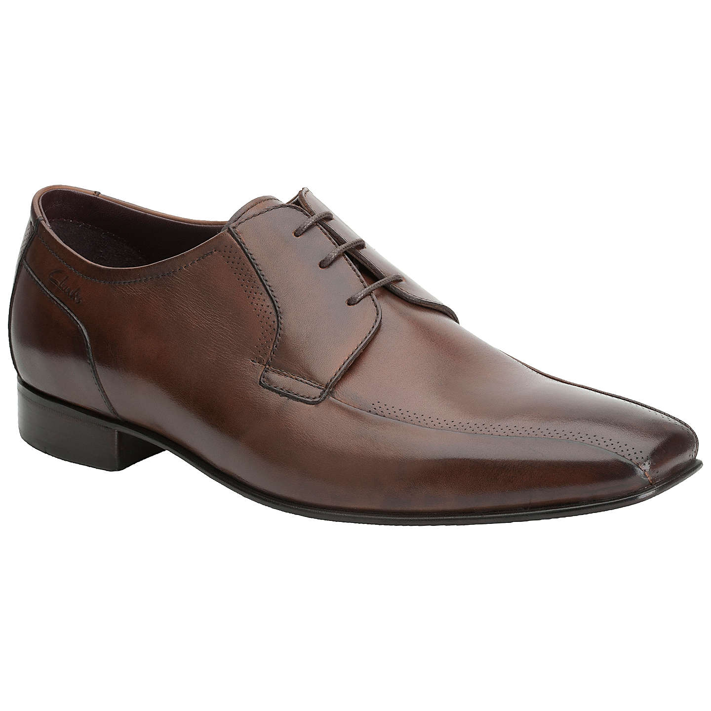 BuyClarks Chilton Leather Derby Shoes, Tan, 7 Online at johnlewis.com