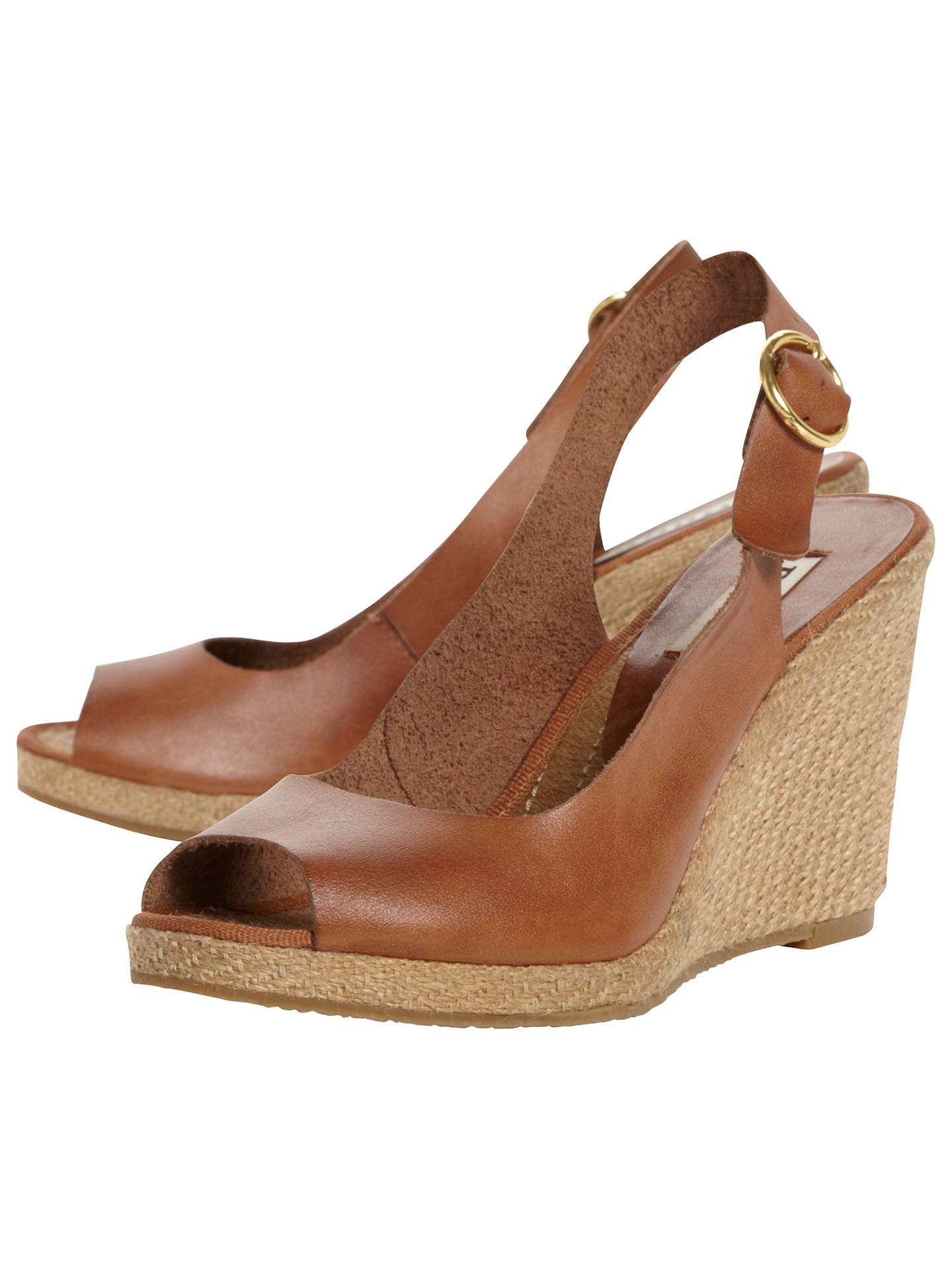 92342e4e956 Dune Gleeful Peep Toe Espadrille Slingback Wedge Sandals at John ...