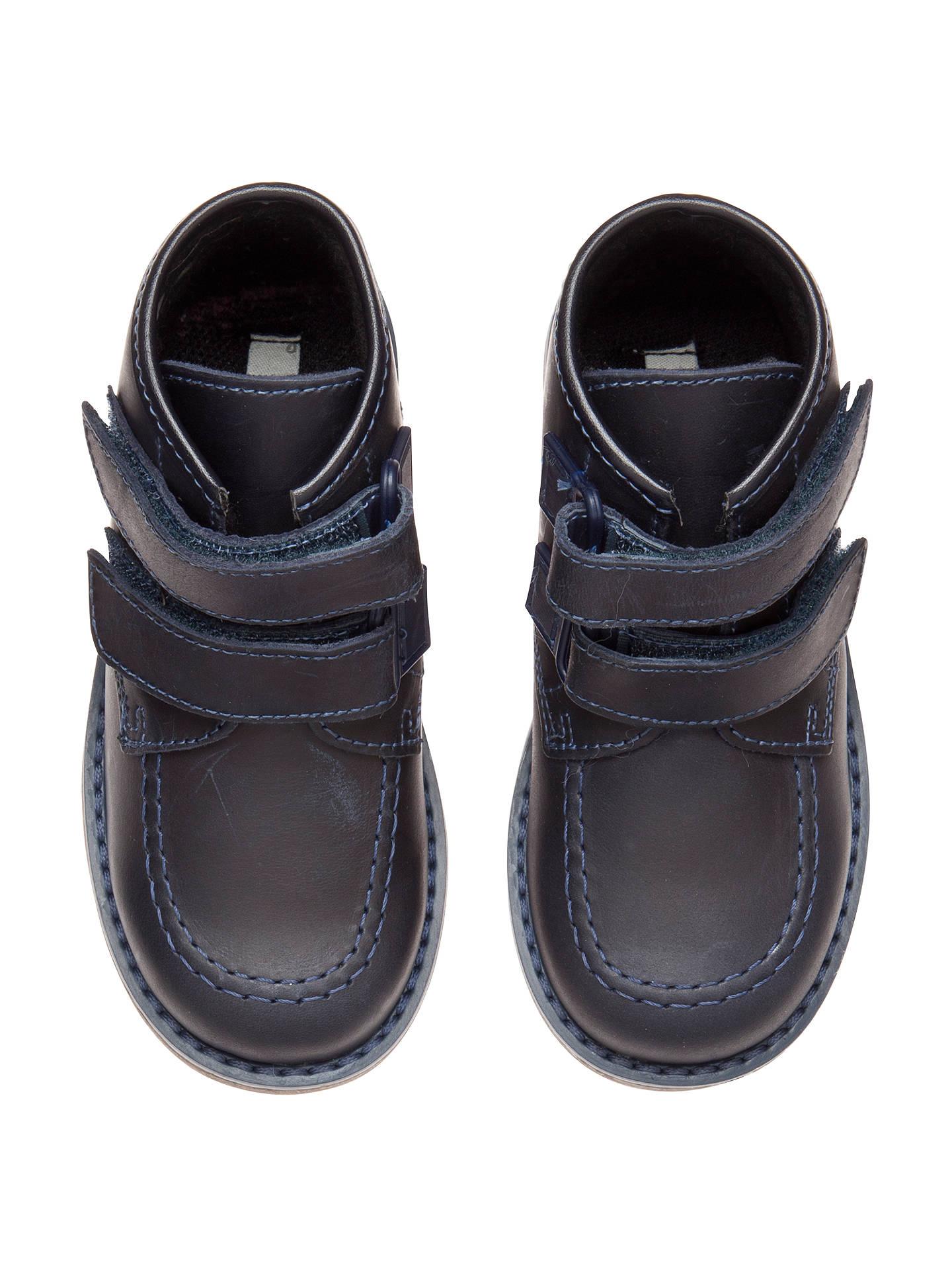 John Lewis Boy David Double Strap Boots, Navy at John ...