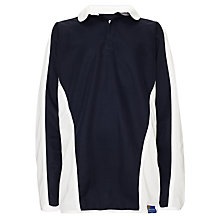 Buy St John's Priory Boys' Rugby Shirt, Navy/White Online at johnlewis.com