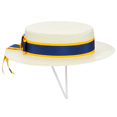 1950s Style Hats for Sale St Michaels Church of England Preparatory School Girls Boater Hat Multi £25.00 AT vintagedancer.com