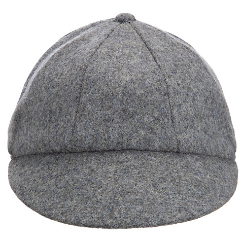 Buy School Plain Cap, Grey Online at johnlewis.com
