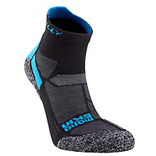 Buy Hilly Monoskin Lite Ankle Socks, Black/Grey Online at johnlewis.com