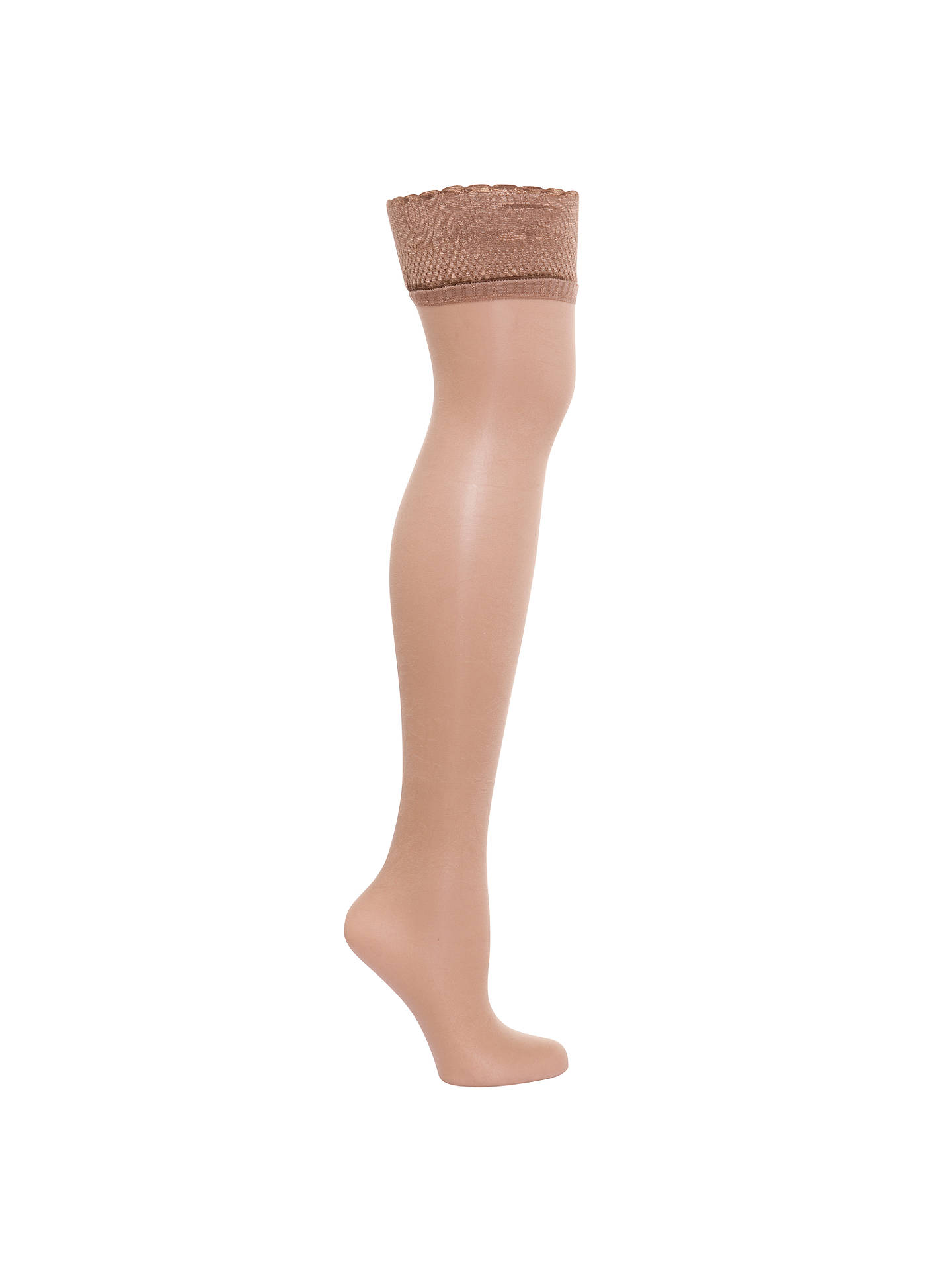 Buy Aristoc Ultra Shine Hold Ups, Nude, S/M Online at johnlewis.com
