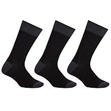 Buy John Lewis Bamboo and Cotton Plain Socks, Pack of 3 Online at johnlewis.com