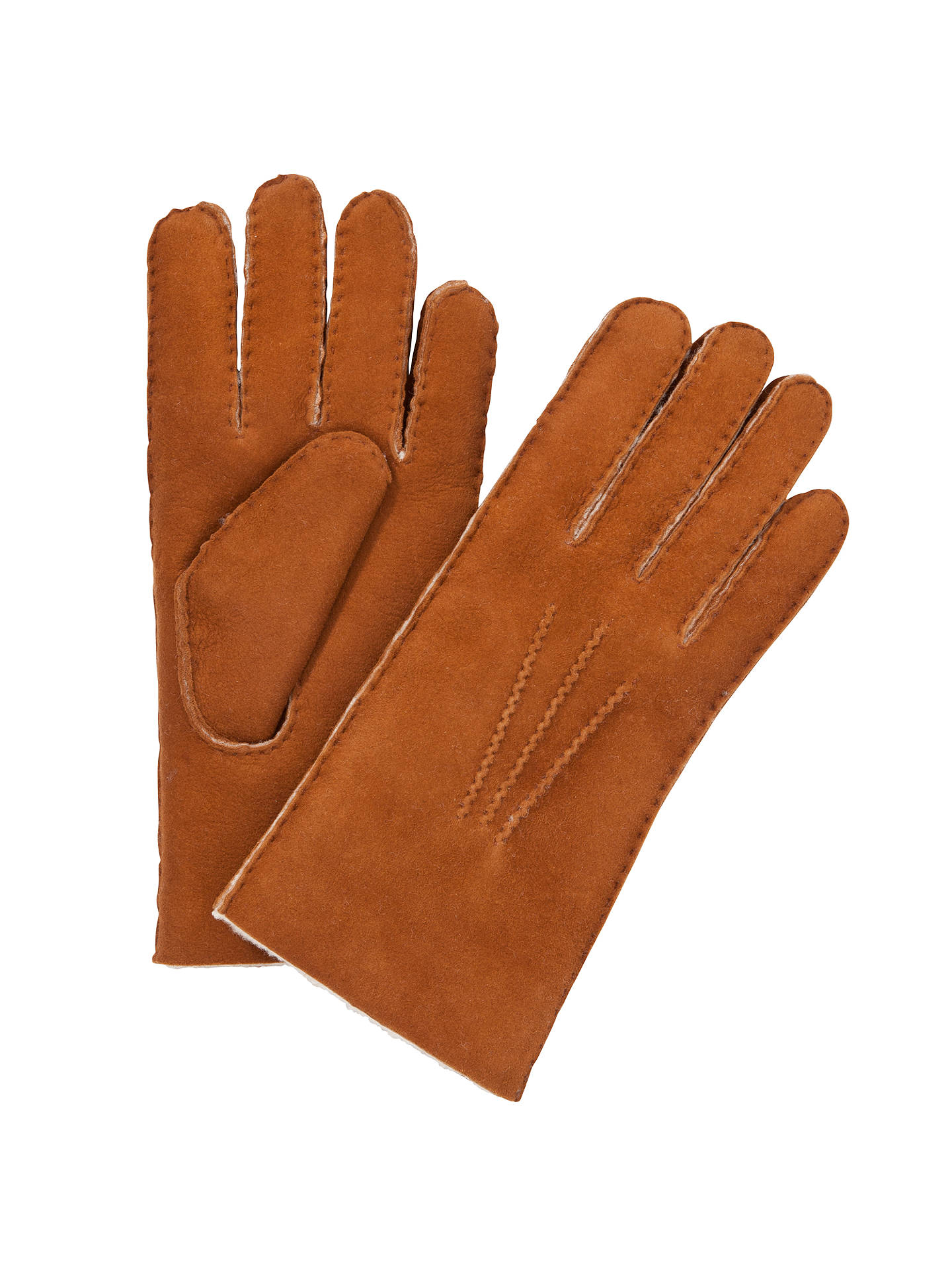 Buy John Lewis Lambskin Gloves, Tan, XL Online at johnlewis.com