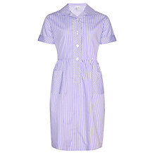 Buy Forest Preparatory School Striped Summer Dress, Purple/White Online at johnlewis.com