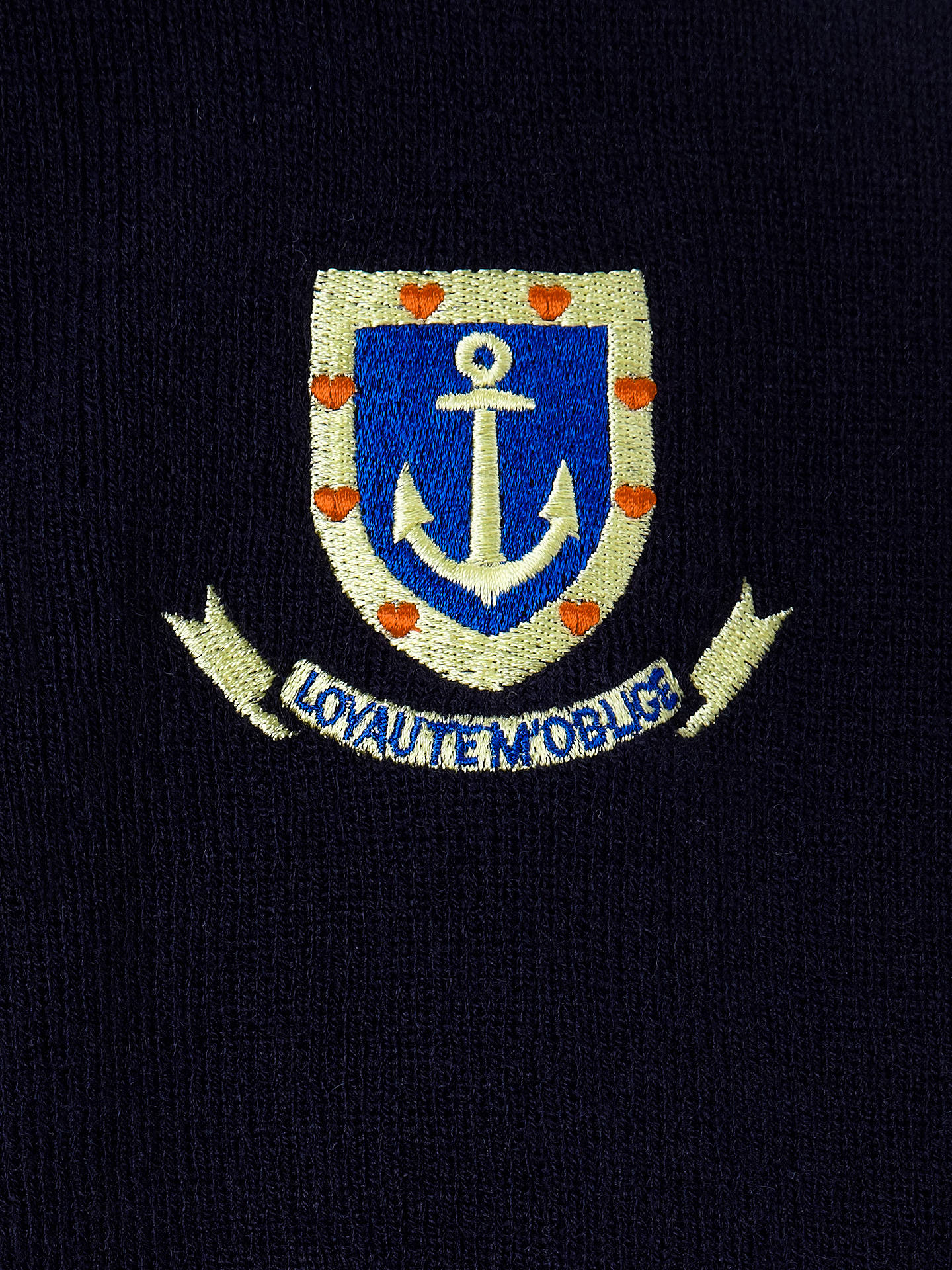 "BuySt Clement Danes Secondary School Cardigan, Navy, Chest 42"" Online at johnlewis.com"