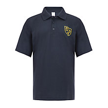 Buy St John's Priory Unisex Polo Shirt, Navy Blue Online at johnlewis.com
