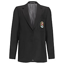 Buy Davenant Foundation School Girls' School Blazer, Black Online at johnlewis.com