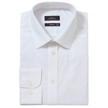 Buy John Lewis Cotton Poplin Tailored Fit Shirt, White Online at johnlewis.com