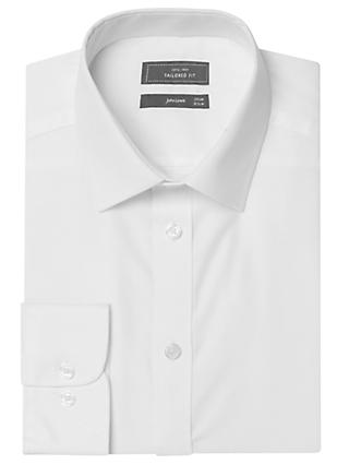 John Lewis & Partners Tailored Non-Iron Self Stripe Long Sleeve Shirt