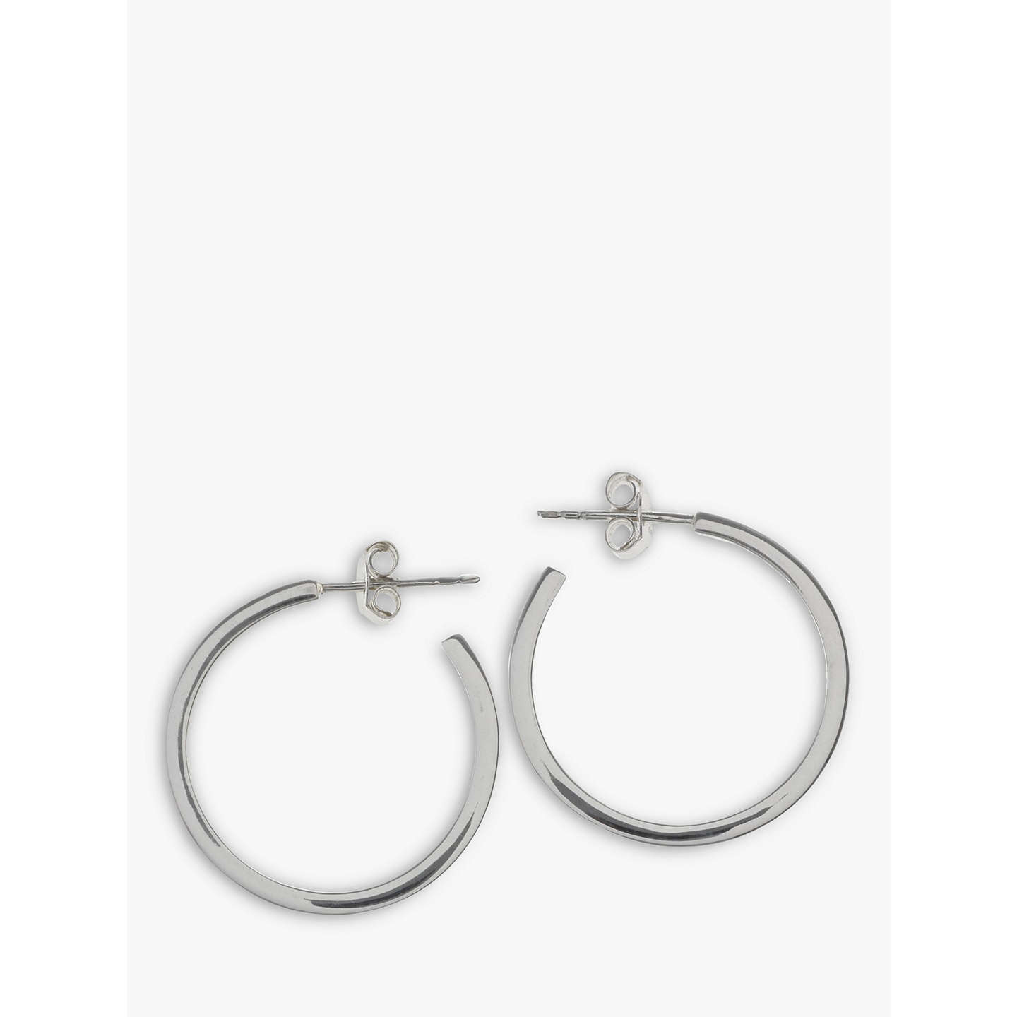 Nina B Sterling Silver Medium Square Hoop Earrings Online At Johnlewis